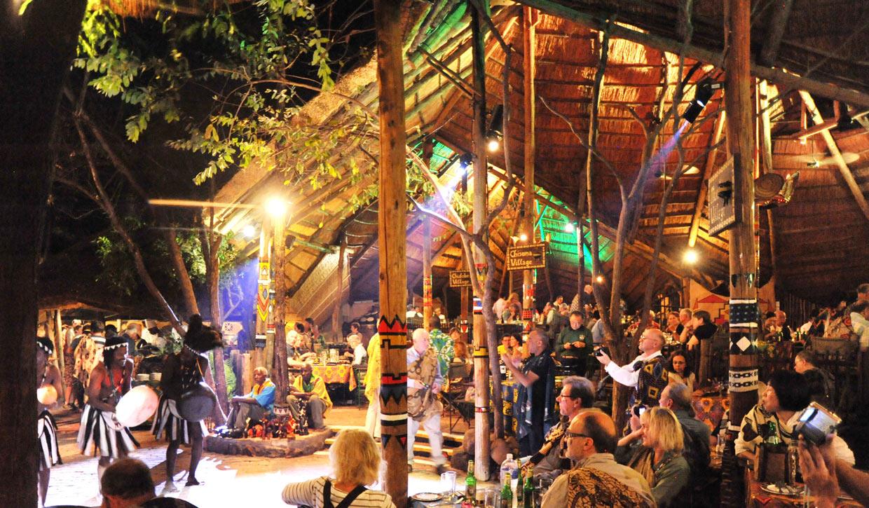 Victoria Falls Boma restaurant